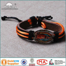 Christian Our Lady Of Guadalupe Leather Antique Bracelet