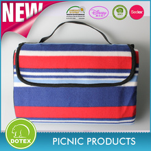 100% polyester one side printed fleece waterproof backing picnic travel blanket
