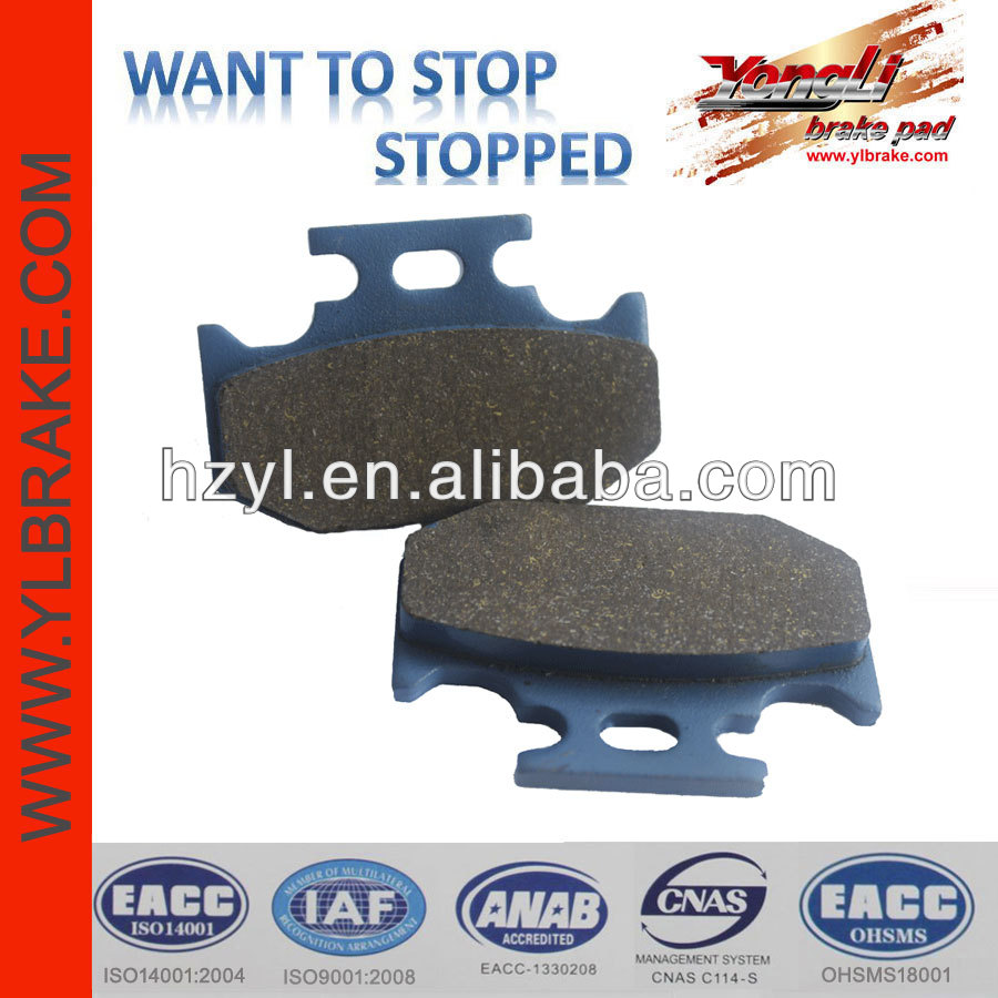 High quality brake pads for YAMAHA dt125;ATV brake pad for YAMAHA;brake pad for KAWASAKI kx 250 motorcycle