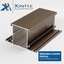 Good Quality Electrophoresis Grain Commercial Opening Aluminium Kitchen Frame Side Extrusions Sliding Window Profile