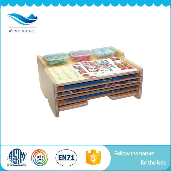 Factory Direct Supply kids educational baby toys map file cabinet