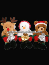 Fashion design and high quality cheap and cute soft plush christmas animals and snowman toy