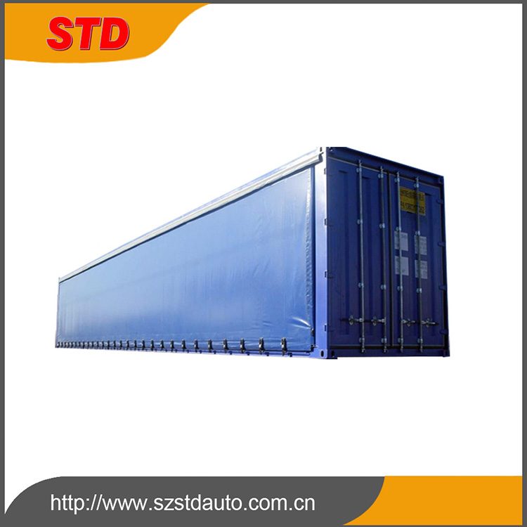 China cheap new 40 feet side curtain shipping container manufacturer