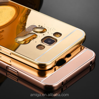 NEW Luxury Aluminum Metal Bumper Mirror Case Cover for Samsung Galaxy J7 J5