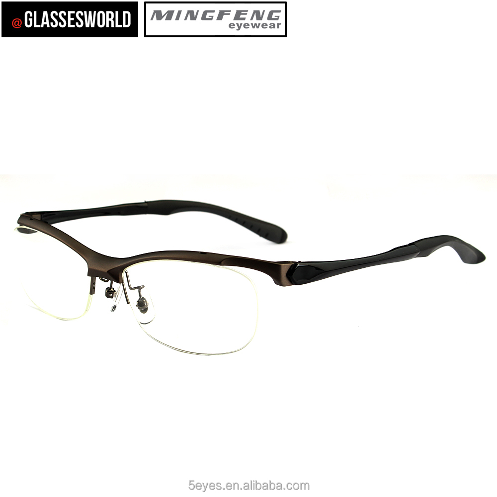 New design TR90 fashion half frame eyewear glasses frame
