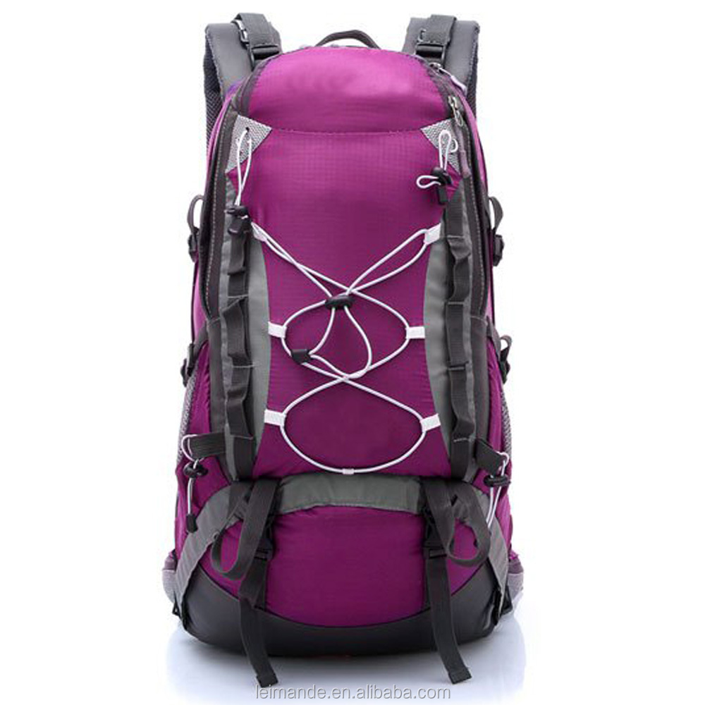 Mountaintop 40 Liter Hking Backpack with Rain Cover and shoe storage rose pink water repellent non scratch promotions