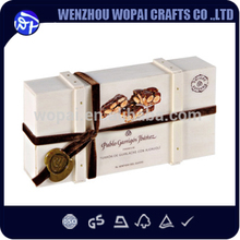 New arrive wooden chocolate box for wedding gift whitewood
