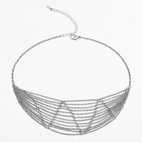 Women's New Summer Fashion Antique Gold Silver Alloy Choker Necklace , Vintage Layer Link Chain Necklace