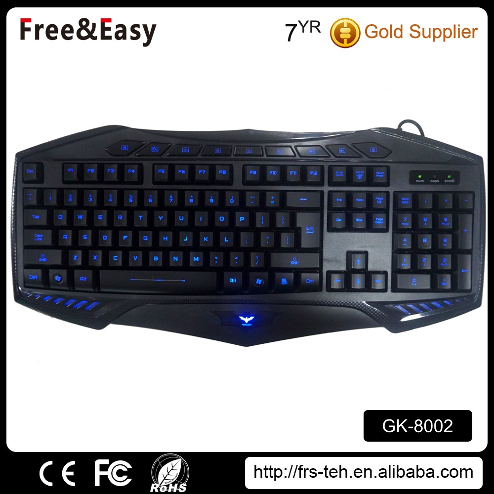 USB/PS/2 interface type gaming wired keyboard with usb port