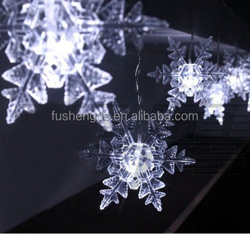 2016 New Product custom LED snowflake lights flashing color changing rope light christmas snowflake for wall or street decor
