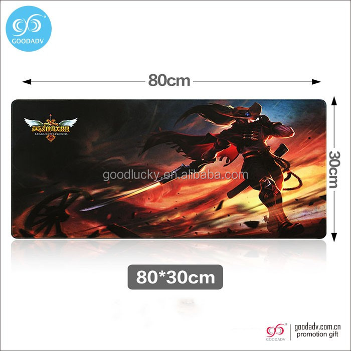 Promotional Cartoon Gaming Customized Rubber Mouse Pad With LOGO Printed