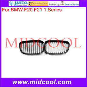 High Quality Pair Gloss Black Front Kidney Grille Grill For BMW F20 F21 1 Series 2011-2014