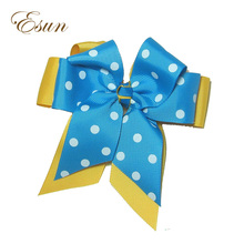 Cheap Big Double Stacked Polka Dots Stytle diy big hair bows