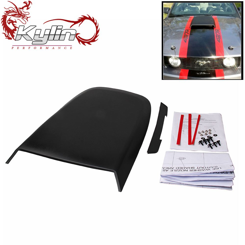 Ryanstar Racing JDM Car Styling Sticker Hood Scoop Black for Mustang 2005-2009 GT V8