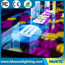 2017 new products led dance floor interactive for bar decor 144pcs