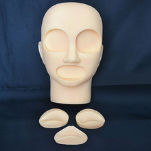 Silicone Material Semi PMU Practice Model Head with Removable eyes and lips