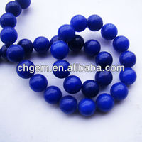 Blue Gemstone Jade String Of Beads For Jewelry Or Garment