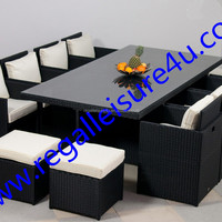 Outdoor Luxury 13pcs Synthetic Rattan Cube
