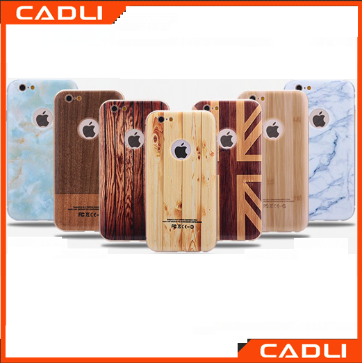 wholesale price sublimation wood marble cell phone case for iphone 6 bamboo phone case