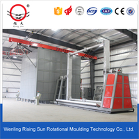 Aluminium rotomoulding mould cleaning machine