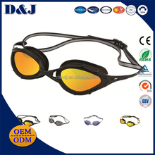 New style wholesale funny silicone strap mirror coated and anti fog swimming goggles