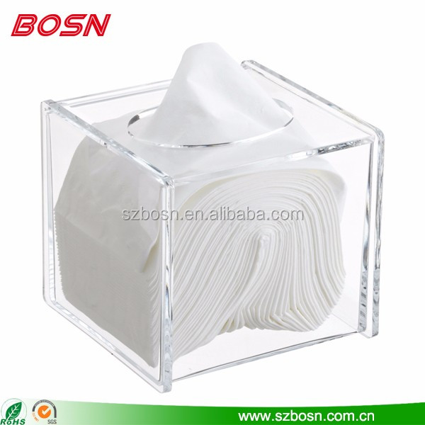Clear acrylic storge tissue Lucite paper dispenser box napkin holder