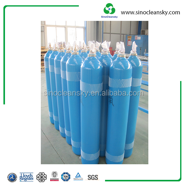 220cf DOT 3AA seamless steel industrial Gas Cylinder