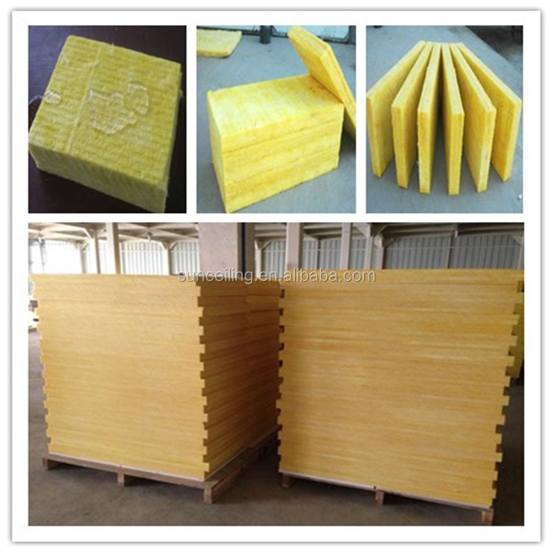 fireproof insulation and heat resistant glass wool with perforated sound absorbing