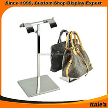 custom POP shopping mall supermarket hanging bag display stand