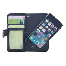 leather book phone case for Iphone 5 with card window and detachable shell