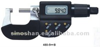 "480-510B 0-50mm/1-2"" x 0.001/0.00005"" Four-Button Electronic Digital Outside Micrometer"