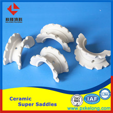25mm 38mm 50mm 76mm Alumina Ceramic Packing Intalox Super Saddle Ring In Dehydration Tower