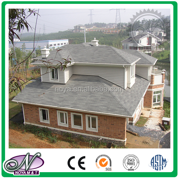 Standard single layer decorative asphalt roofing tiles with low price