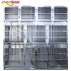 Shernbao KA-508 Compound Stainless Steel Dog Kennel Modular Pet Dog Cage Crates with Wheels