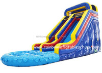 Attractive used water park slide, heavy duty inflatable water slide price