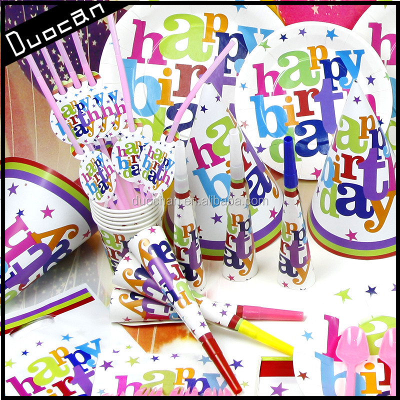 wholesale paper theme birthday party decorations for kids