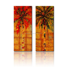 Coconut Tree Painting On Canvas/Stretched Canvas Painting For Decor/Palm Tree Paintings