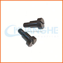 black anodized aluminum colored knurled thumb screw
