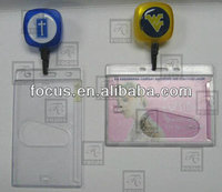 ID card holder with badge reel
