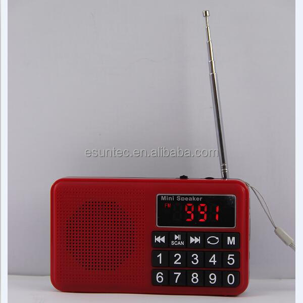 Esuntec MP3 SD Am Fm Portable Radio Stock SPU-008H