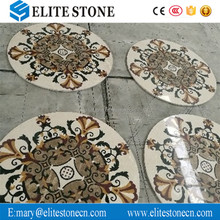 Round Flower Marble Stone Waterjet/Medallion Pattern Inlay for Floor