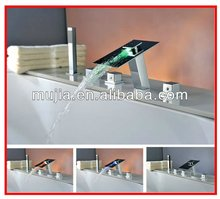2012 Newest style side mounted bathtub faucet bathtub mixer led faucet taps mixers