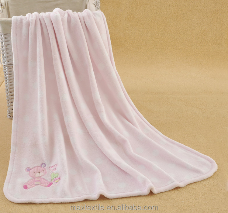 High quality coral fleece throw and blanket