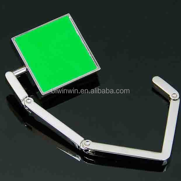Green Square style Folding Bag Purse Hook Hanger