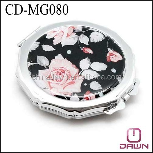 metal flower decorative pocket mirror factory CD-MG080