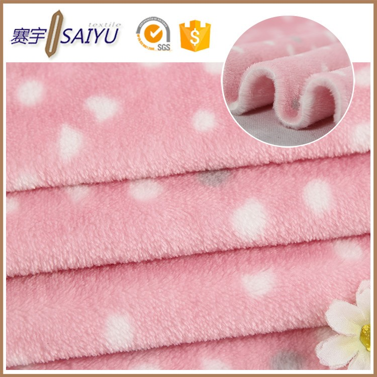 Cheap wholesale custom Anti-pilling flannel fabric for baby bedding set