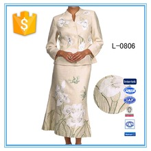 2016 Ladies Designer Long Skirt Suits Embroidery Clothes Latest Designer Skirt Suits