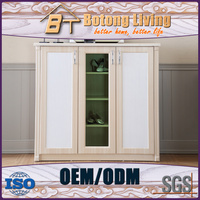 Botong Living SC04 solid wood shoe storage display cabinet