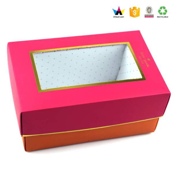Custom clear pvc shoe box Wholesale