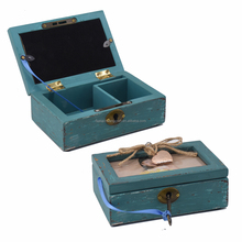 Professional manufacturer high Quality Distressed Wooden Jewelry Box